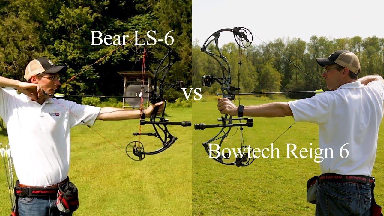 Bowtech Reign 6 vs  Bear LS-6 + VideoAllOutdoor com