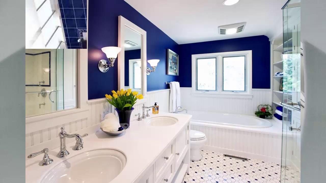 Badezimmer blau weiß - YouTube