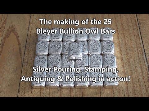 Making the Bleyer Bullion Owl Bars - Pouring, Stamping & Polishing!
