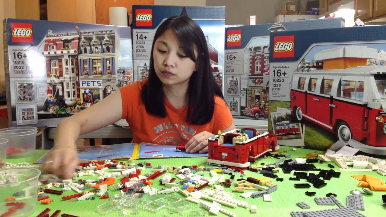 Lego 10220 Volkswagen T1 Camper Van Time Lapse Youtube