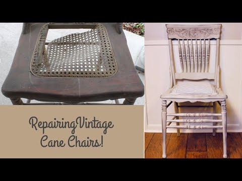 Repairing Vintage Cane Chairs!