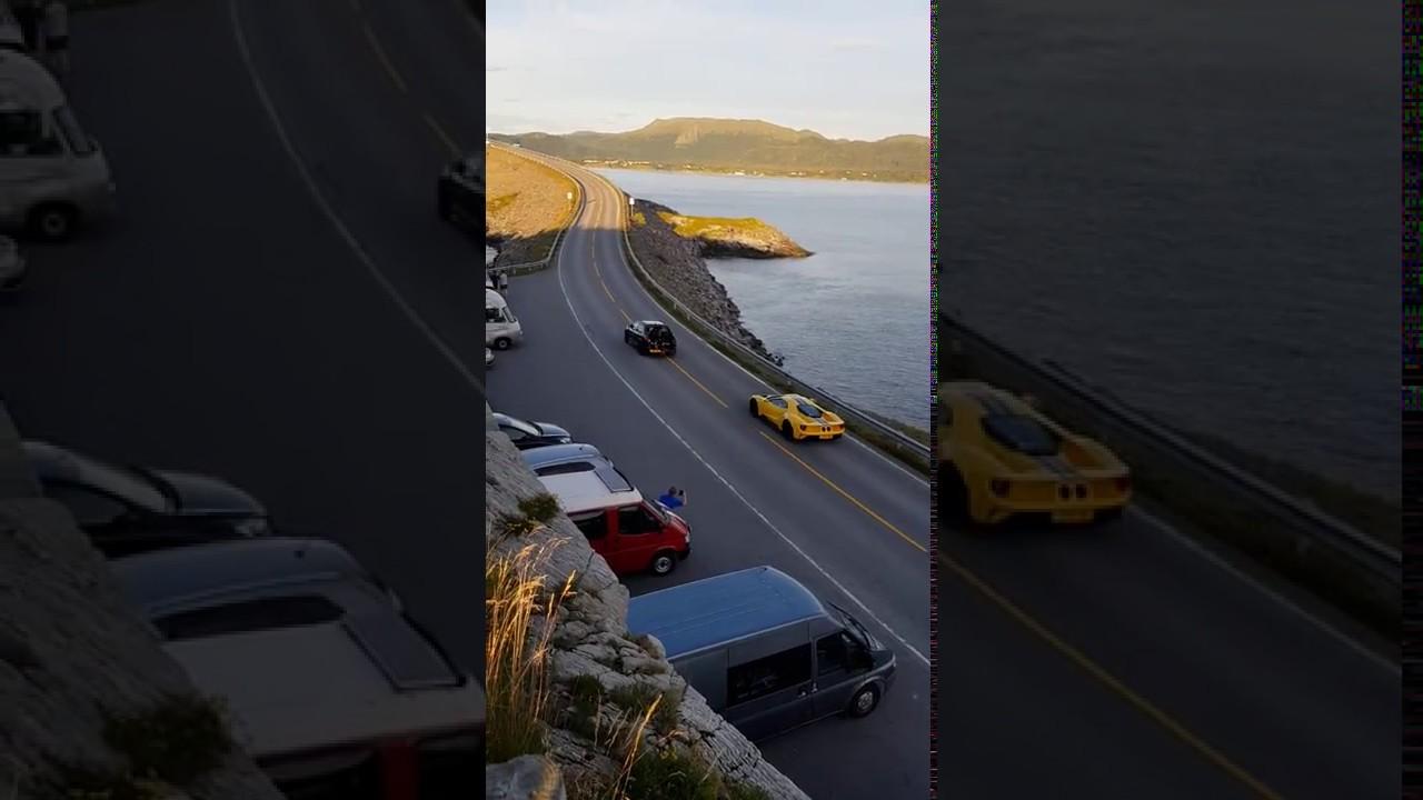 Ford Gt  Visits Atlantic Ocean Road In Norway