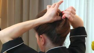 Upięcie włosów w formie kokardy