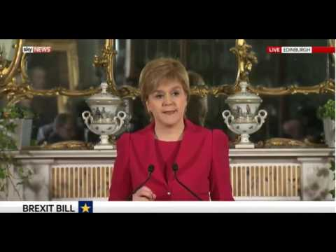 Nicola Sturgeon announces a new Scottish independence referendum