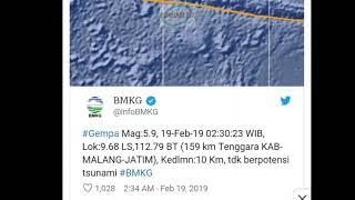 Download Video Gempa di Malang Mag: 5,9 tidak Berpotensi Tsunami MP3 3GP MP4