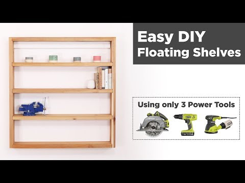 Easy DIY Floating Shelves | Woodworking for Beginners