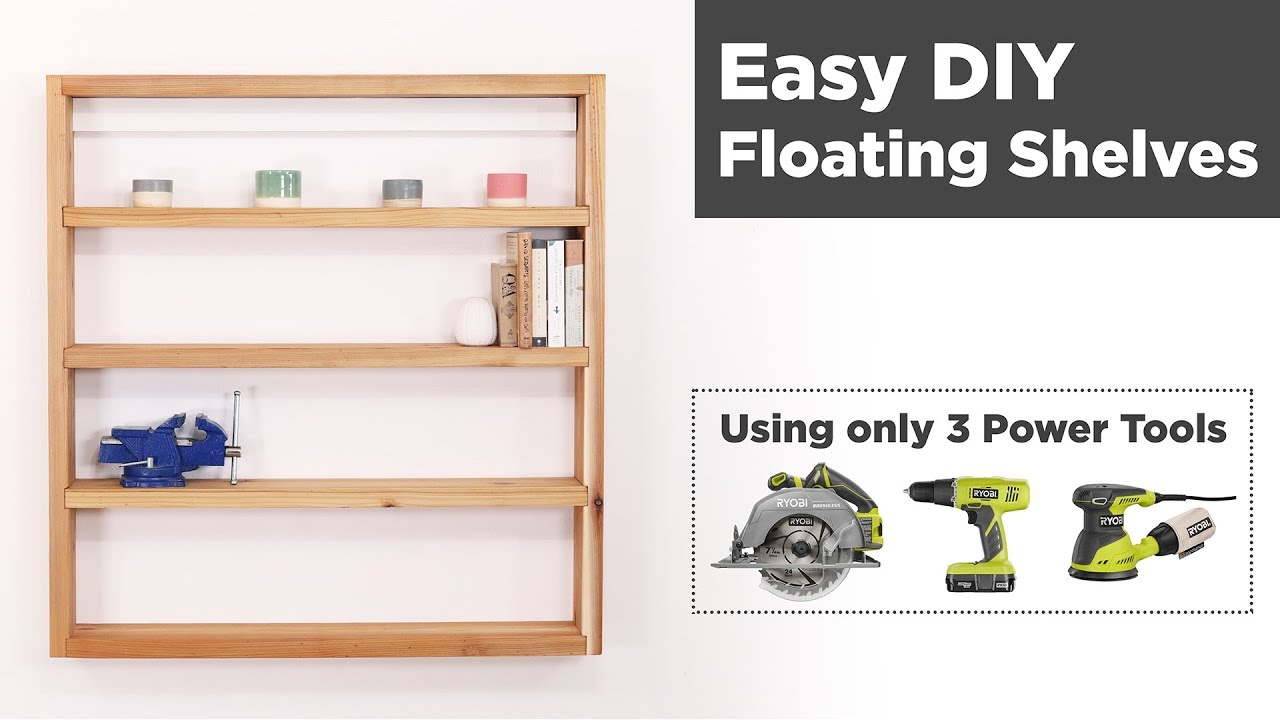 Easy Diy Floating Shelves Woodworking For Beginners