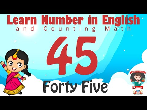 Learn Number Forty Five 45 In English & Counting Math