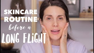 MY SKINCARE ROUTINE BEFORE A  LONG FLIGHT   ALI ANDREEA