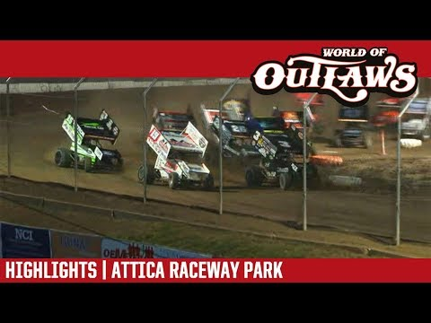 World of Outlaws Craftsman Sprint Cars Attica Raceway Park July 10, 2018 | HIGHLIGHTS