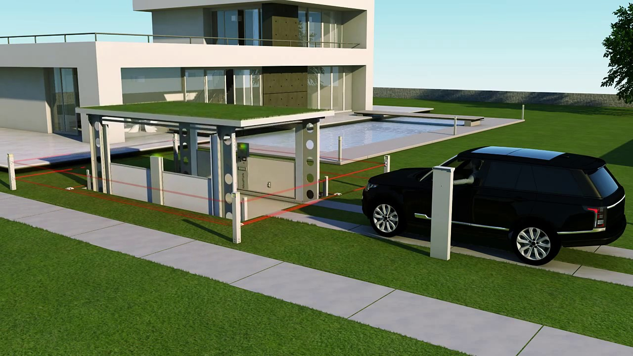 House Parking Garage : Idealpark car lift invisible solution for private house