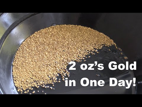 Oz Of Gold In One Day Gold Dredging On The Rogue River Season