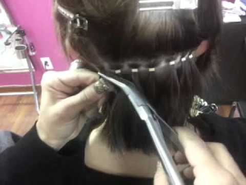 Micro Beaded Weft Extensions Youtube