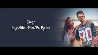 Aaja meri bike pe lyrics