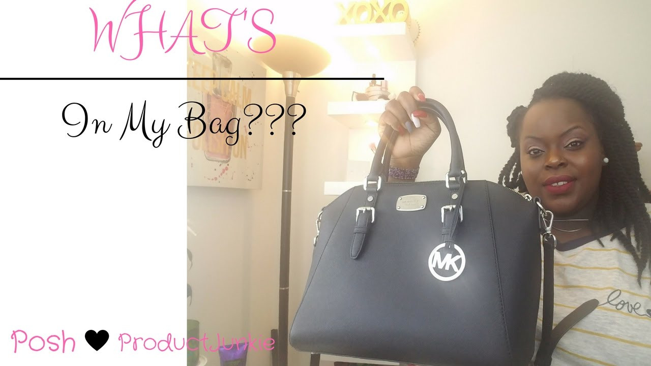 5ae39b8f9024 What's in my bag '16 * Michael Kors Ciara Large Topzip Satchel ...