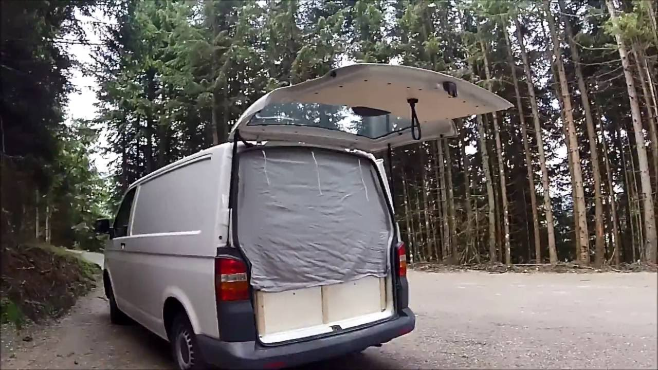 umbau vw t5 transporter zu camper youtube. Black Bedroom Furniture Sets. Home Design Ideas