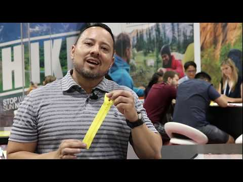 Robert Espinoza introduces YKK's click-TRAK® at Outdoor Retailer Market