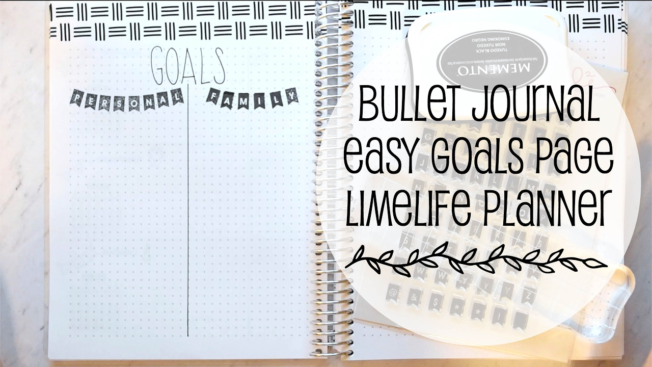 easy goals page bullet journaling youtube. Black Bedroom Furniture Sets. Home Design Ideas
