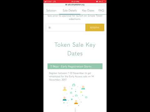 Simple Token (ST) ICO is LIVE. **1 Day Remaining**
