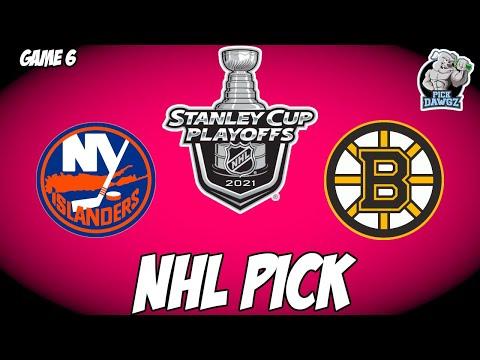 Boston Bruins vs New York Islanders 6/9/21 Free NHL Pick and Prediction NHL Betting Tips