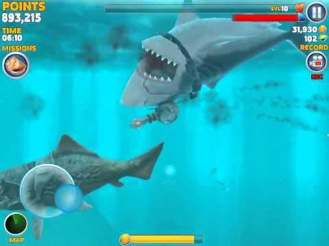 megalodon vs dunkleosteus megalodon lose in one hit gameplay#1