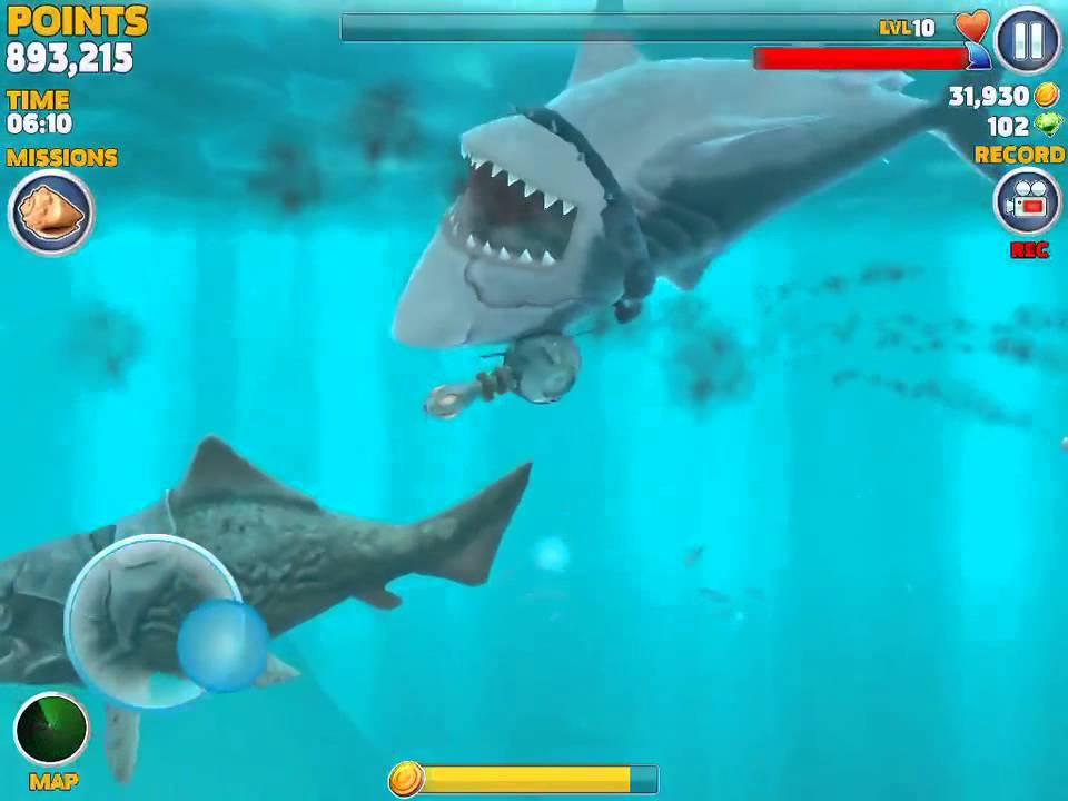 megalodon vs dunkleosteus megalodon lose in one hit gameplay#1 - YouTube
