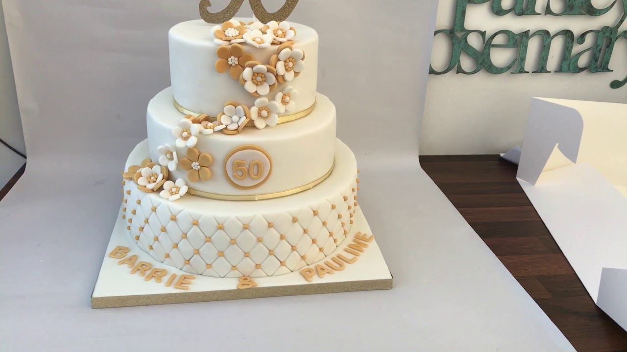 why is wedding cake tiered three tier 50th anniversary cake 27472