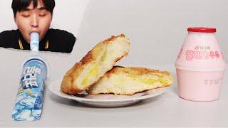 슈크림 소보로 빵 폴라포 아이스크림 딸기우유 먹방[푸른Pureun]Cream puff Bread Polapo Ice Cream Strawberry Milk Mukbang ASMR