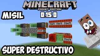 Super misil destructivo minecraft pocket edition 0.15.0