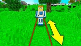 Minecraft, ale moge iść tylko do przodu i do tyłu
