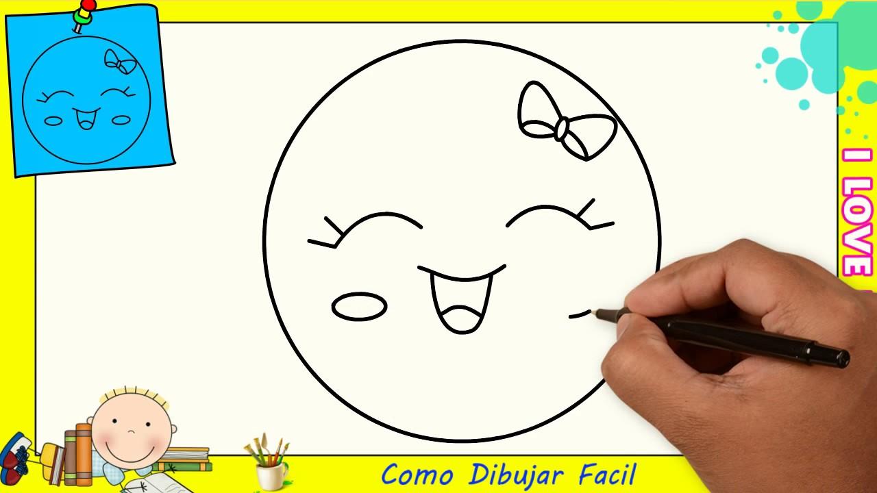Como Dibujar Un Emoji Facil Paso A Paso Para Niños Y Principiantes