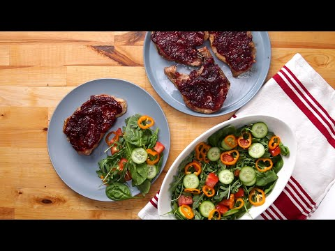 Cranberry & Orange Glazed Pork Chops