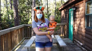 Disney Fort Wilderness Halloween Staycation Check In Day! | Cabin Tour, Holiday Decorations & BBQ!