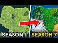 Download Fortnite Map Evolution - Season 1 to Season 7