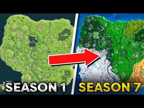 Fortnite Map Evolution - Season 1 To Season 7