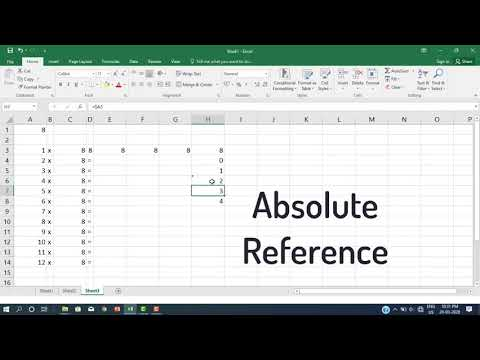MS Excel - Part 03 - Cell Reference தொடர்பான விளக்கம்