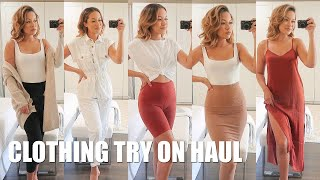 SUMMER TO FALL CLOTHING TRY ON HAUL | Marie Jay