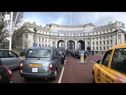 El centro de Londres, bloqueado por miles de taxistas contra Uber