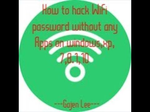 How To Hack WiFi Password Without Any Apps On Windows Xp, 7,8.1,10 | Hacking