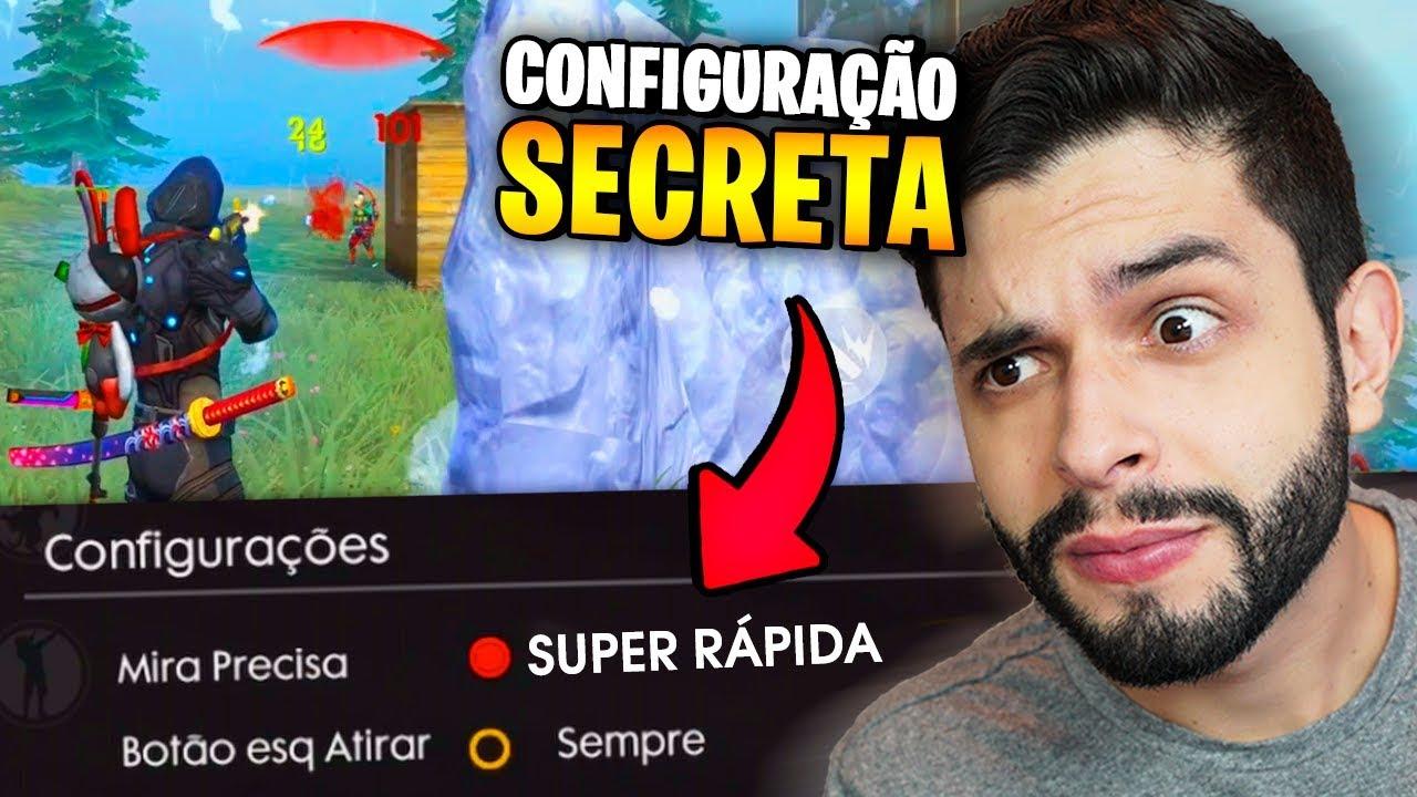 PLAYHARD - ACHEI O SEGREDO?!? MUDEI MINHAS CONFIGURAÇÕES DO FREE FIRE E ALGO ACONTECEU...