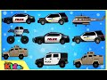 Police Car | Police Vehicles | Cars & Trucks | Videos for Children | Little Kids TV