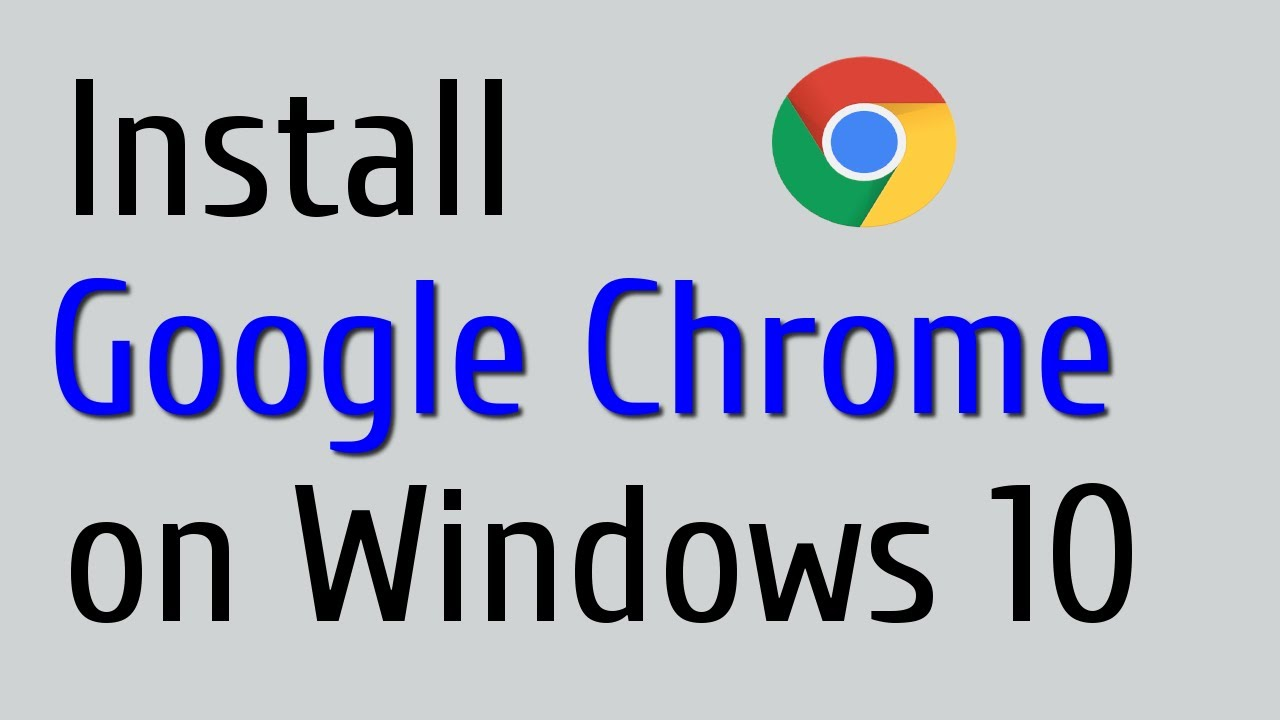 How to Download & Install Google Chrome - YouTube