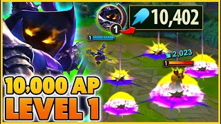 I Got 10,000 AP LEVEL 1 Then HARD CARRIED!!