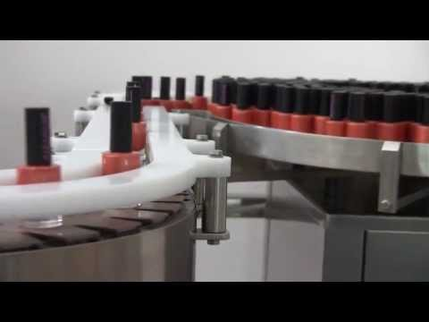 AUTOMATIC MONOBLOC FOR NAIL POLISH WITH LABELLING MACHINE