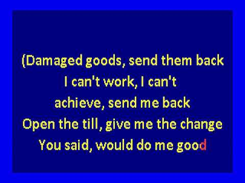 Gang Of Four -  Damaged Goods (karaoke)