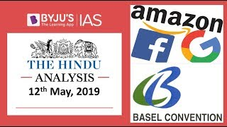 'The Hindu' Analysis for 12th May, 2019. (Current Affairs for UPSC/IAS)