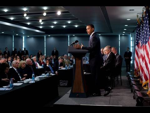 President Obama Takes Questions from Senate Democrats