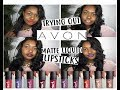 TRYING AVON'S MATTE LIQUID LIPSTICKS FOR THE FIRST TIME - MARK'S COSMETICS!