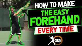 "Complete Forehand Lesson | How To Make The ""Easy"" Forehand Every Time 