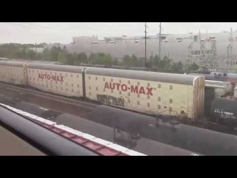 MARTA Train Ride round trip between Chamblee & Doraville feat. NS 119 with CN & NS in OLS 4/15/14
